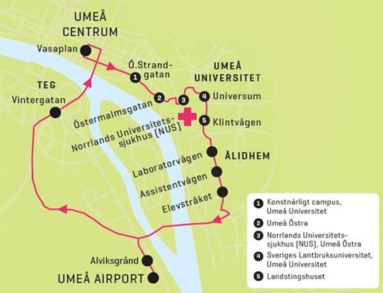 Airport Bus Ultra Lokaltrafiken I Umea