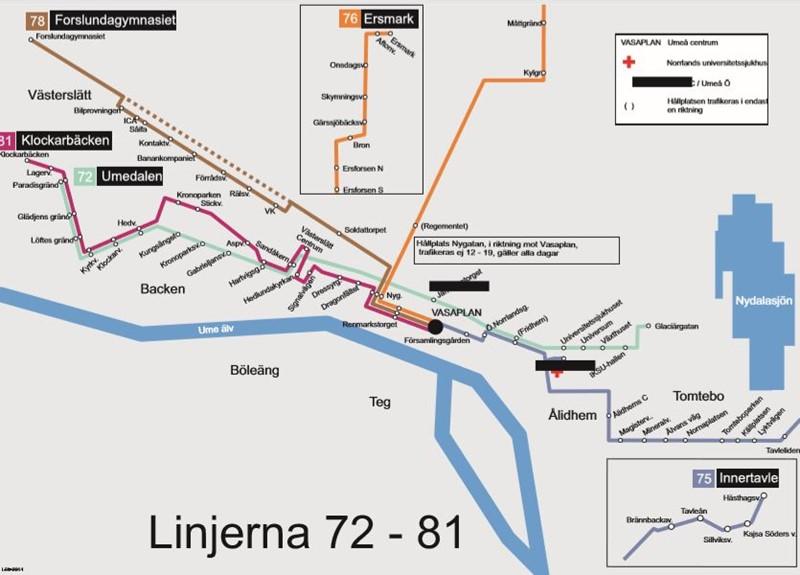 Linjekartor For Umeas Lokaltrafik